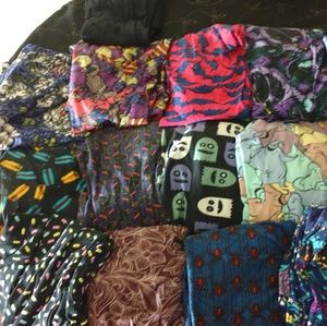 LuLaRoe Halloween leggings ghosts cats spiders bat
